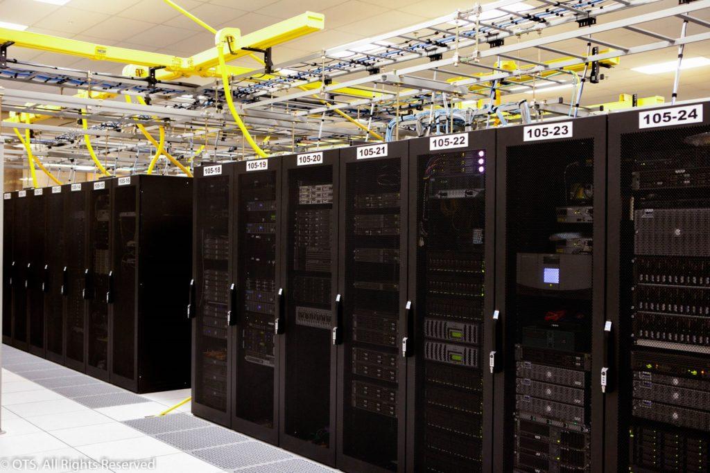 Image of QTS data center racks